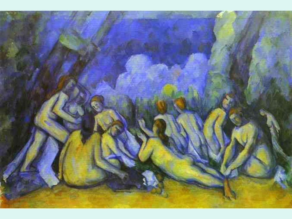 Posimpresionismo Cezanne. Bañistas