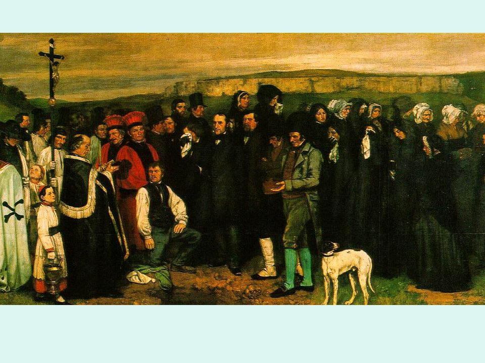 Realismo Courbet El entierro Dórnans