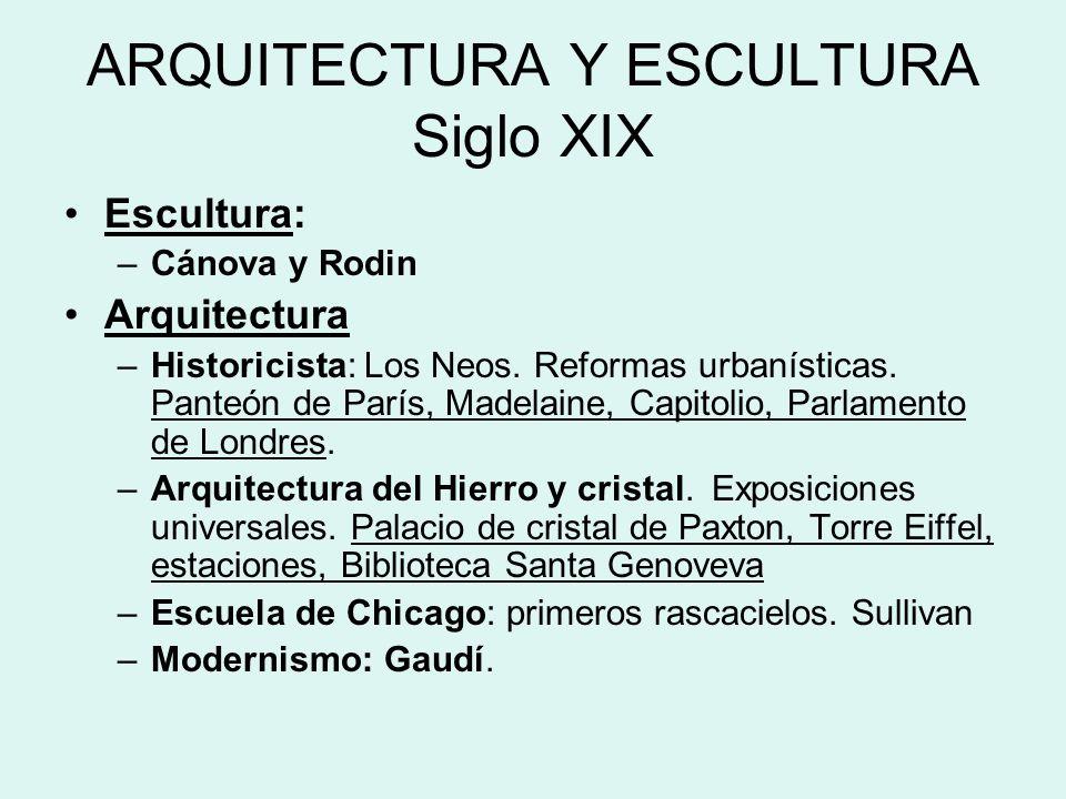 ARQUITECTURA Y ESCULTURA Siglo XIX