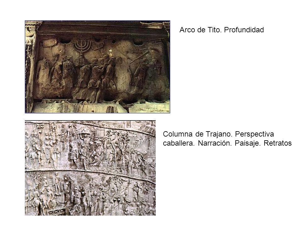 Arco de Tito. Profundidad