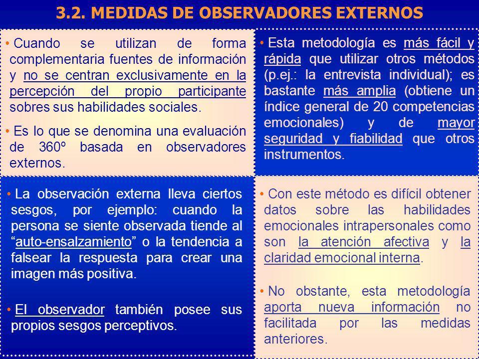 3.2. MEDIDAS DE OBSERVADORES EXTERNOS