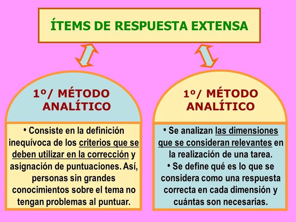 ÍTEMS DE RESPUESTA EXTENSA