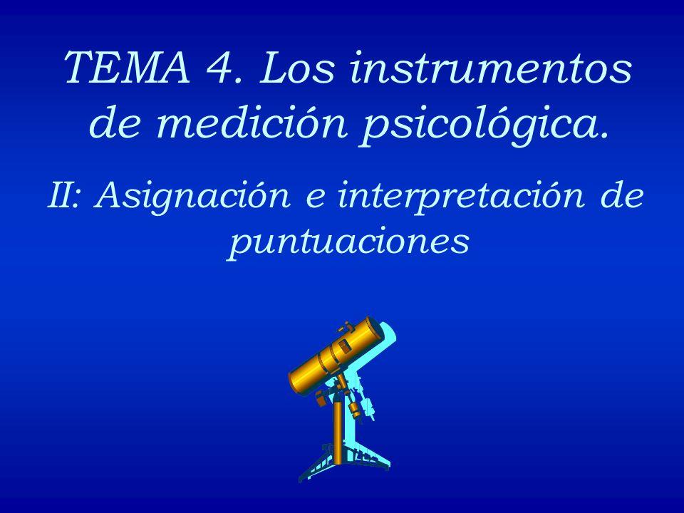 TEMA 4. Los instrumentos de medición psicológica.