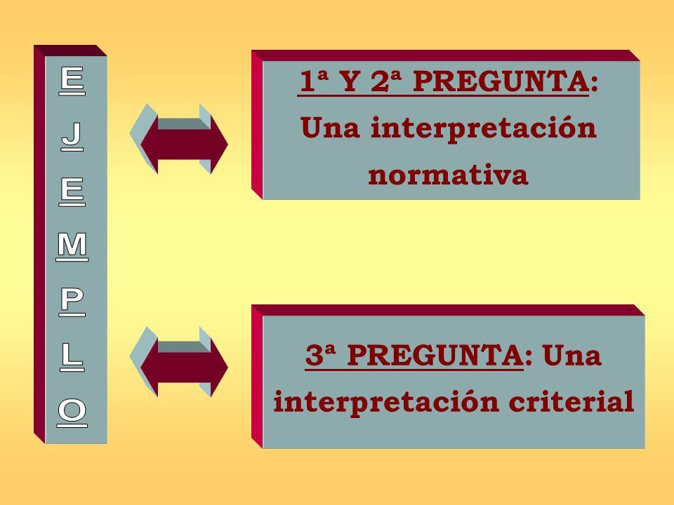 1ª Y 2ª PREGUNTA: Una interpretación normativa