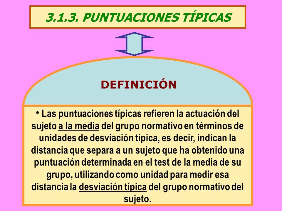 3.1.3. PUNTUACIONES TÍPICAS DEFINICIÓN