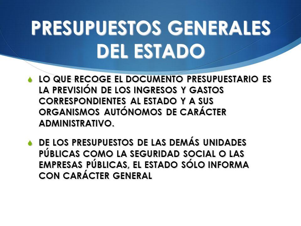 PRESUPUESTOS GENERALES DEL ESTADO
