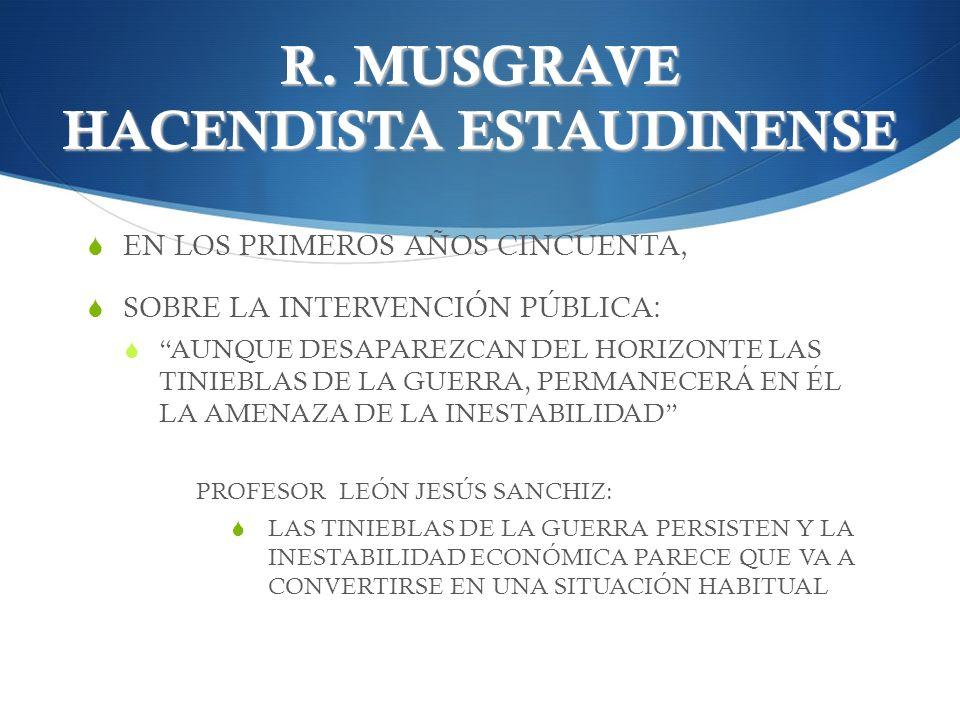 R. MUSGRAVE HACENDISTA ESTAUDINENSE