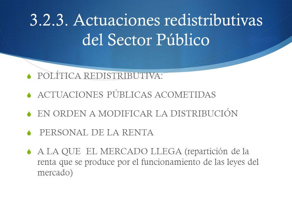 3.2.3. Actuaciones redistributivas del Sector Público