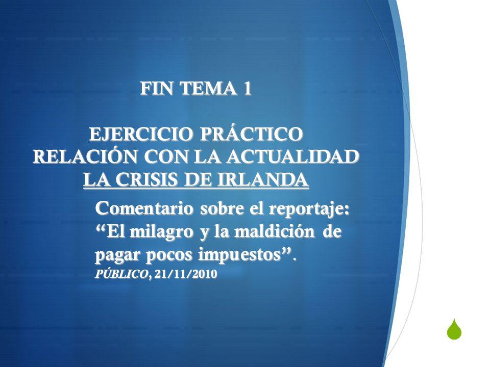 FIN TEMA 1 EJERCICIO PRÁCTICO RELACIÓN CON LA ACTUALIDAD LA CRISIS DE IRLANDA