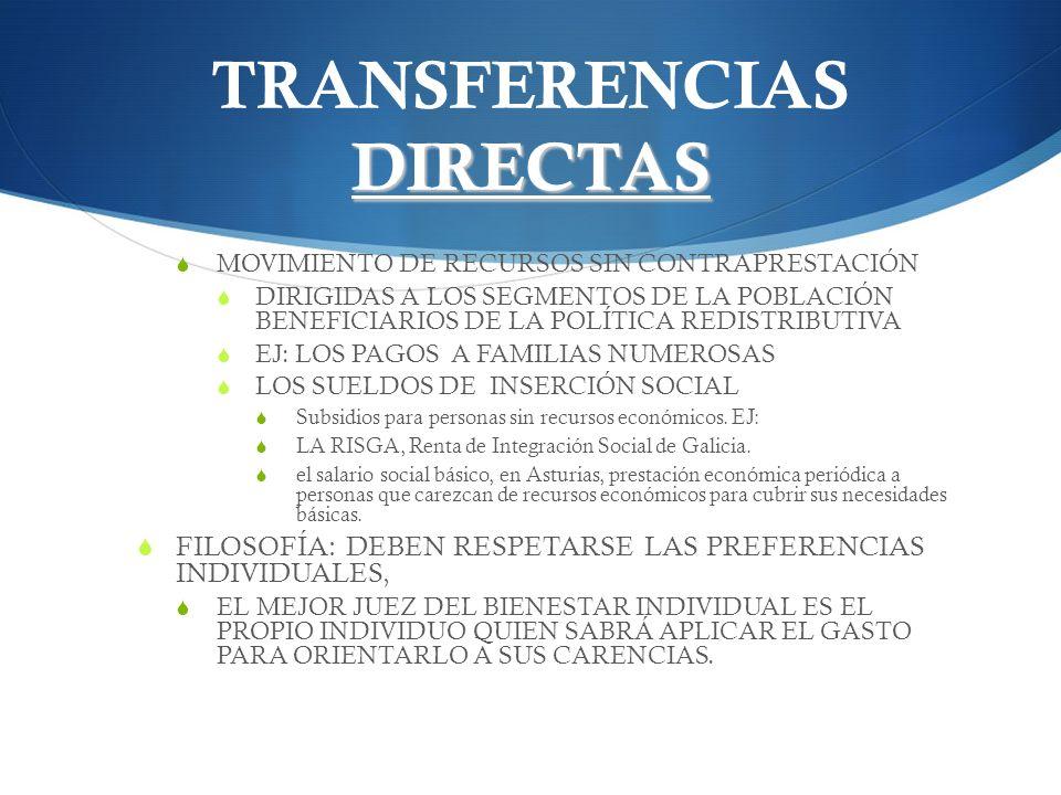 TRANSFERENCIAS DIRECTAS