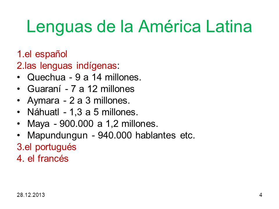 Lenguas de la América Latina