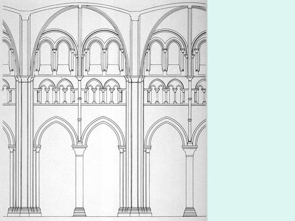 Arco ojival y pilares fasciculados