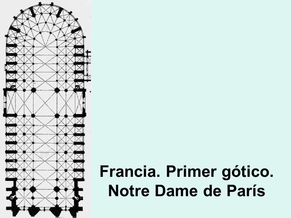 Francia. Primer gótico. Notre Dame de París