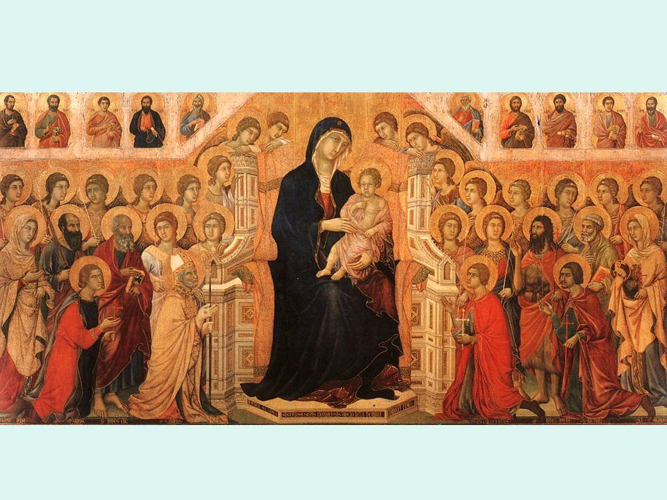 Trecento. Siena. Duccio Madonna entronizada
