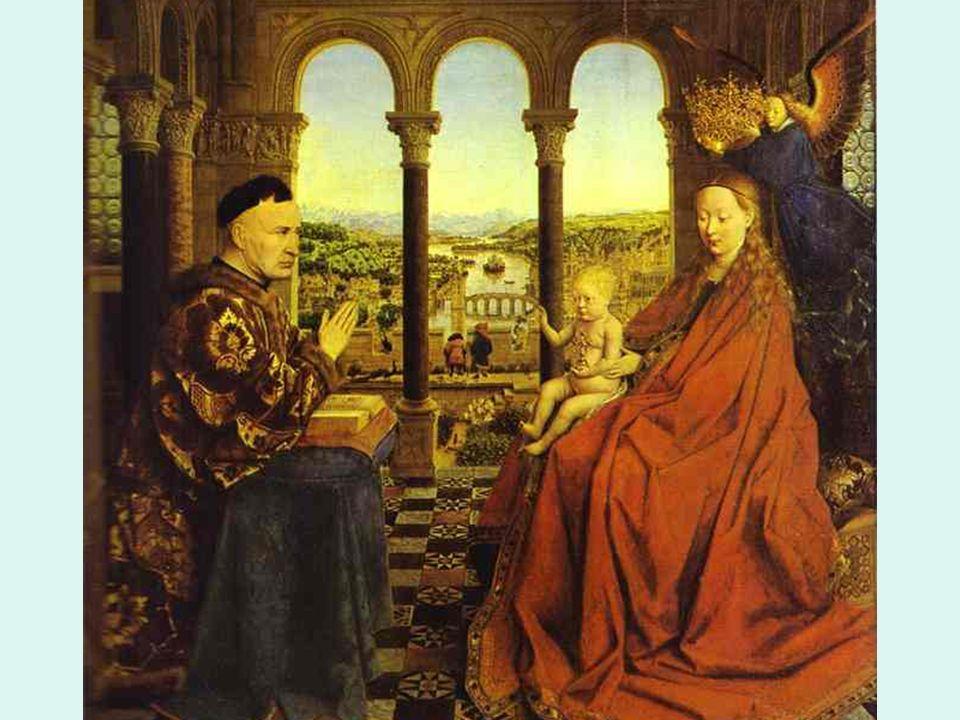 Flamenco. Van Eyck. Virgen con el canciller Rollin