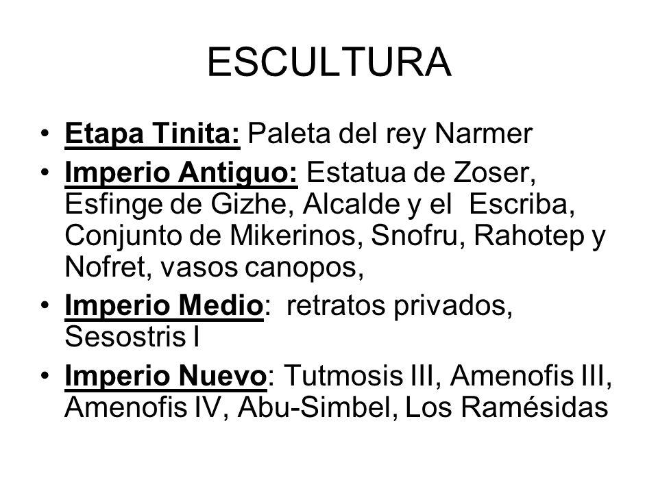 ESCULTURA Etapa Tinita: Paleta del rey Narmer