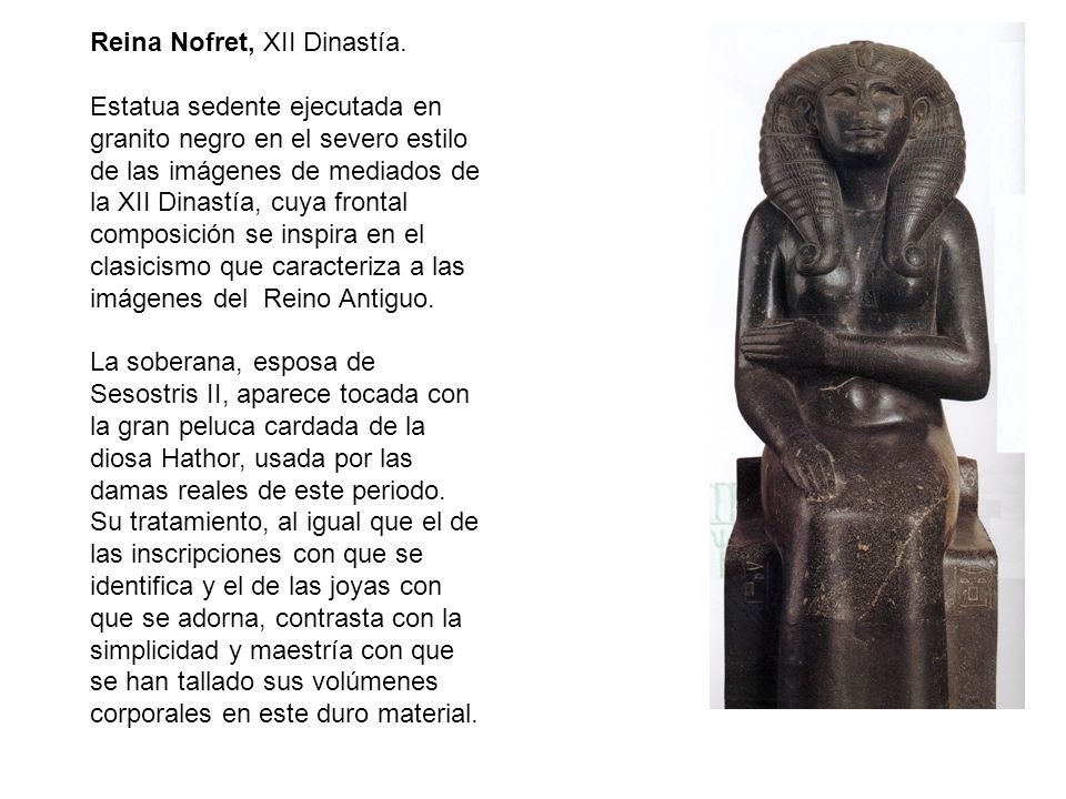 Reina Nofret, XII Dinastía.