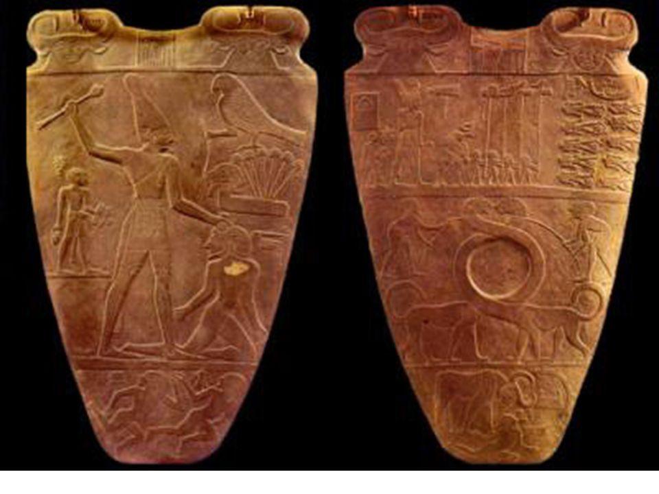 Tinita. Paleta rey Narmer
