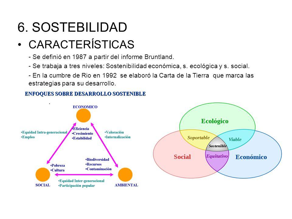 6. SOSTEBILIDAD CARACTERÍSTICAS