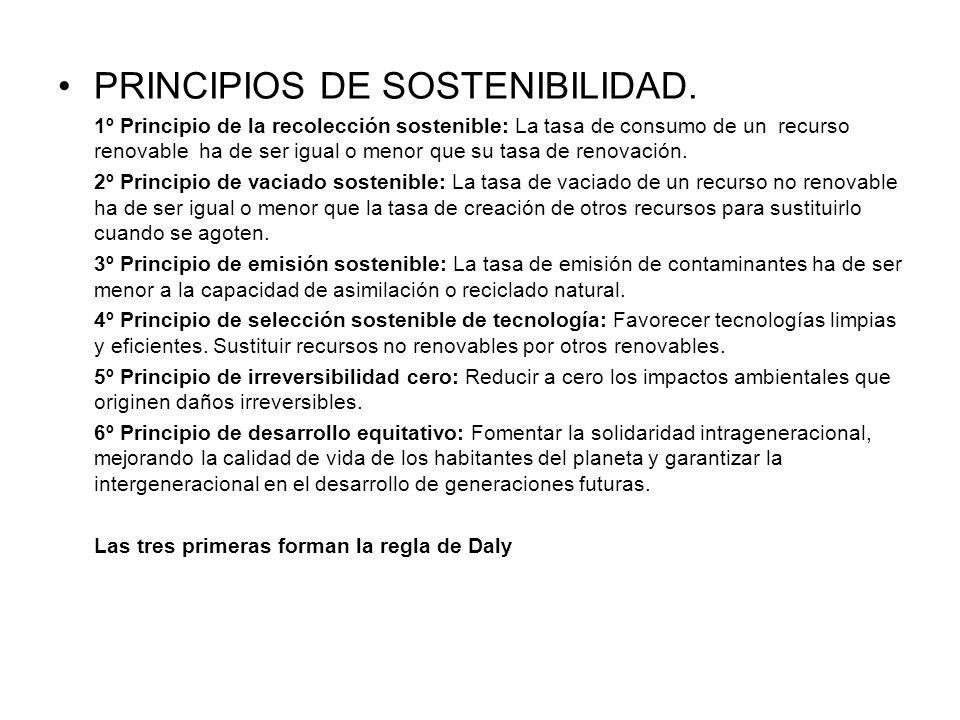 PRINCIPIOS DE SOSTENIBILIDAD.