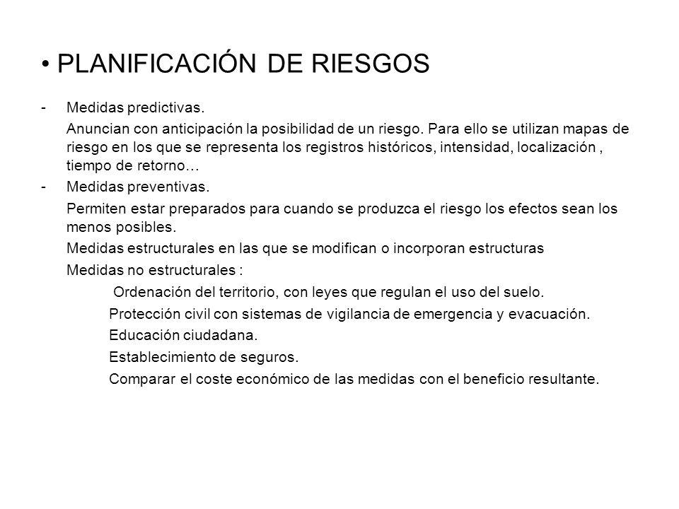 PLANIFICACIÓN DE RIESGOS