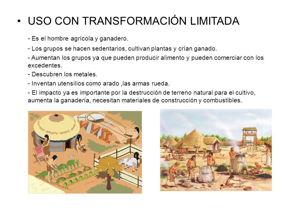 USO CON TRANSFORMACIÓN LIMITADA - Es el hombre agrícola y ganadero.