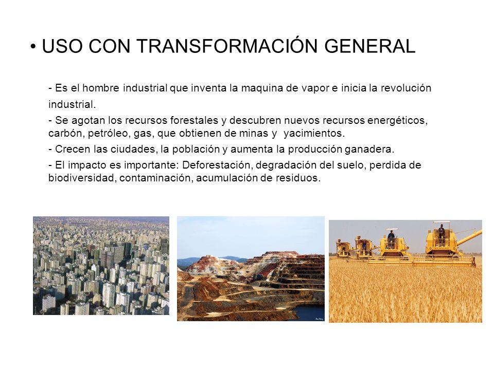 USO CON TRANSFORMACIÓN GENERAL