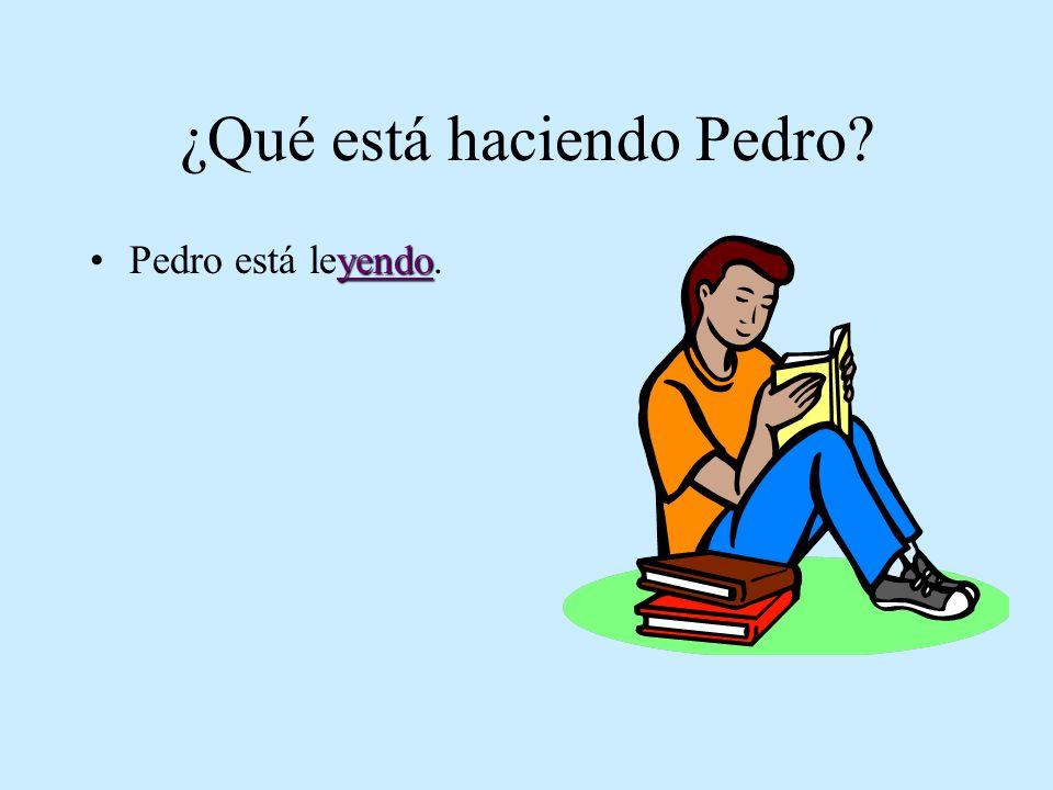 ¿Qué está haciendo Pedro