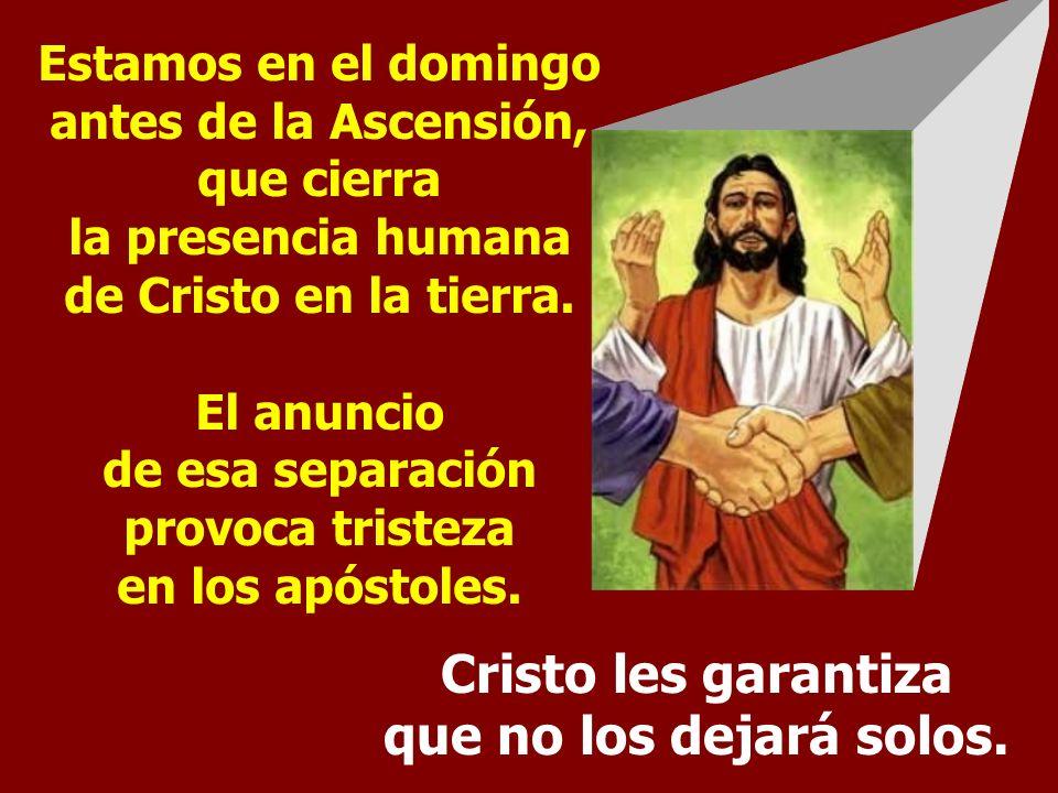Cristo les garantiza que no los dejará solos.