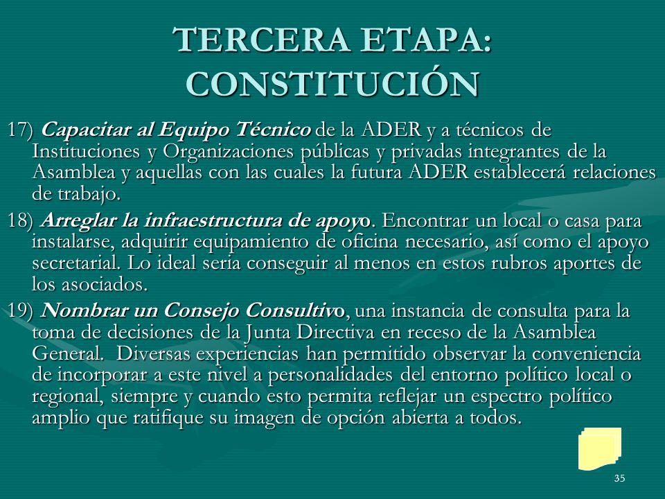 TERCERA ETAPA: CONSTITUCIÓN