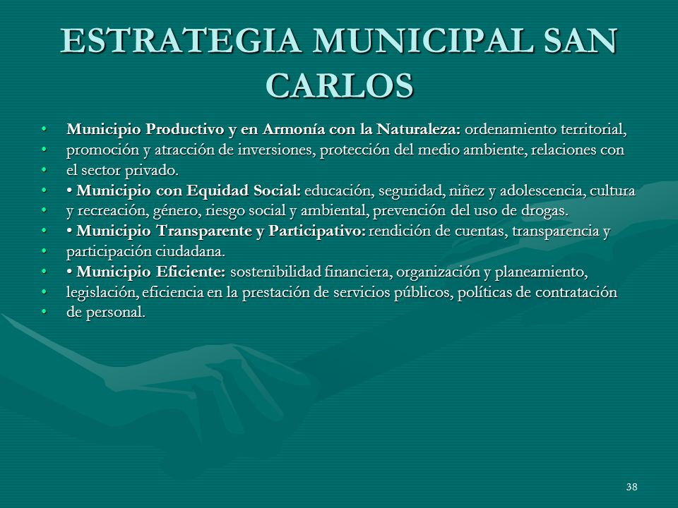 ESTRATEGIA MUNICIPAL SAN CARLOS