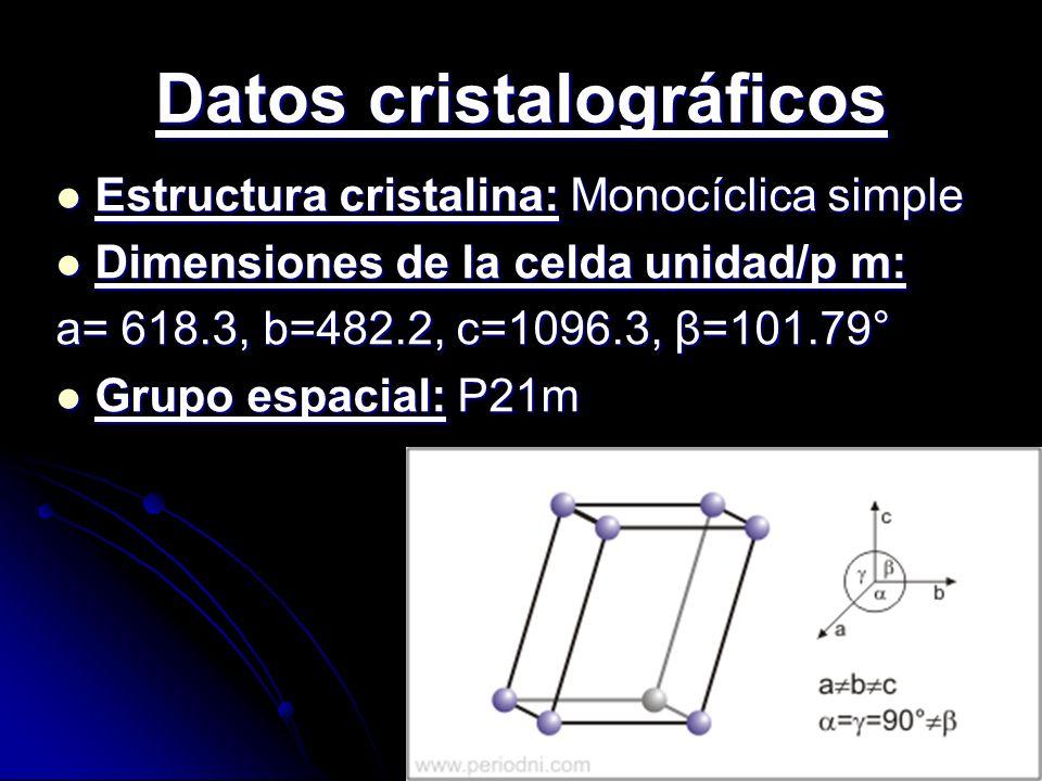 Datos cristalográficos