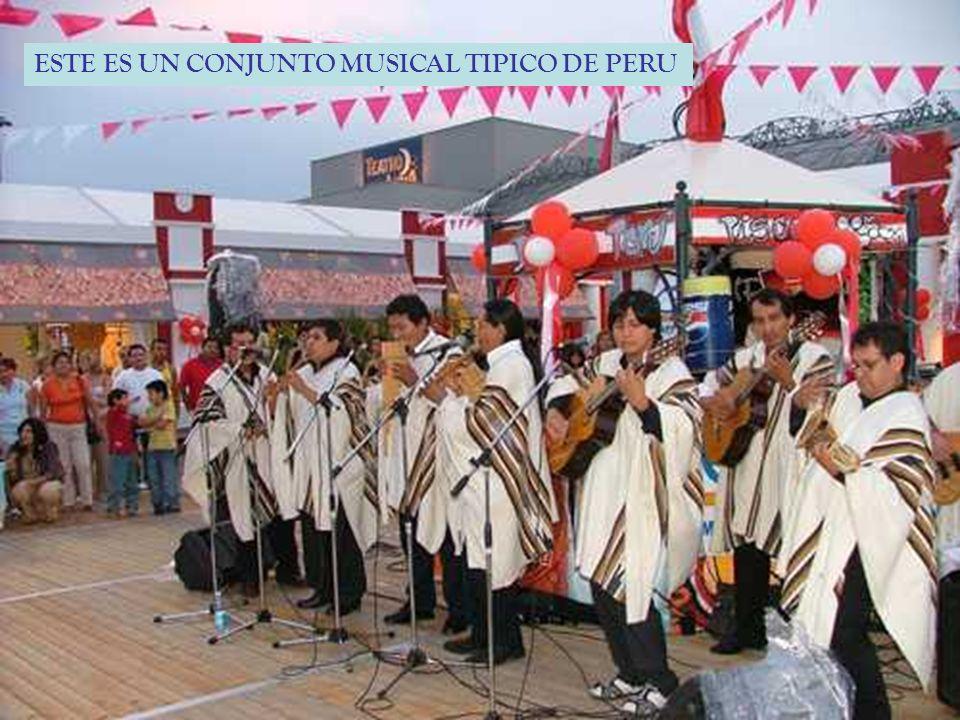ESTE ES UN CONJUNTO MUSICAL TIPICO DE PERU