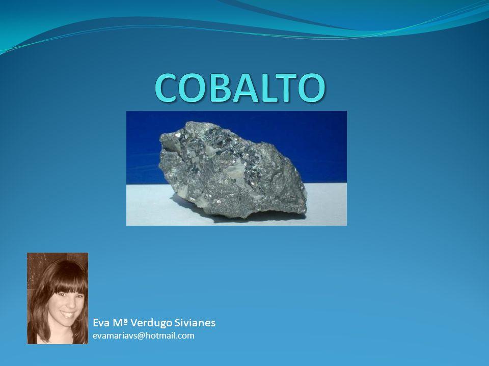 COBALTO Eva Mª Verdugo Sivianes evamariavs@hotmail.com