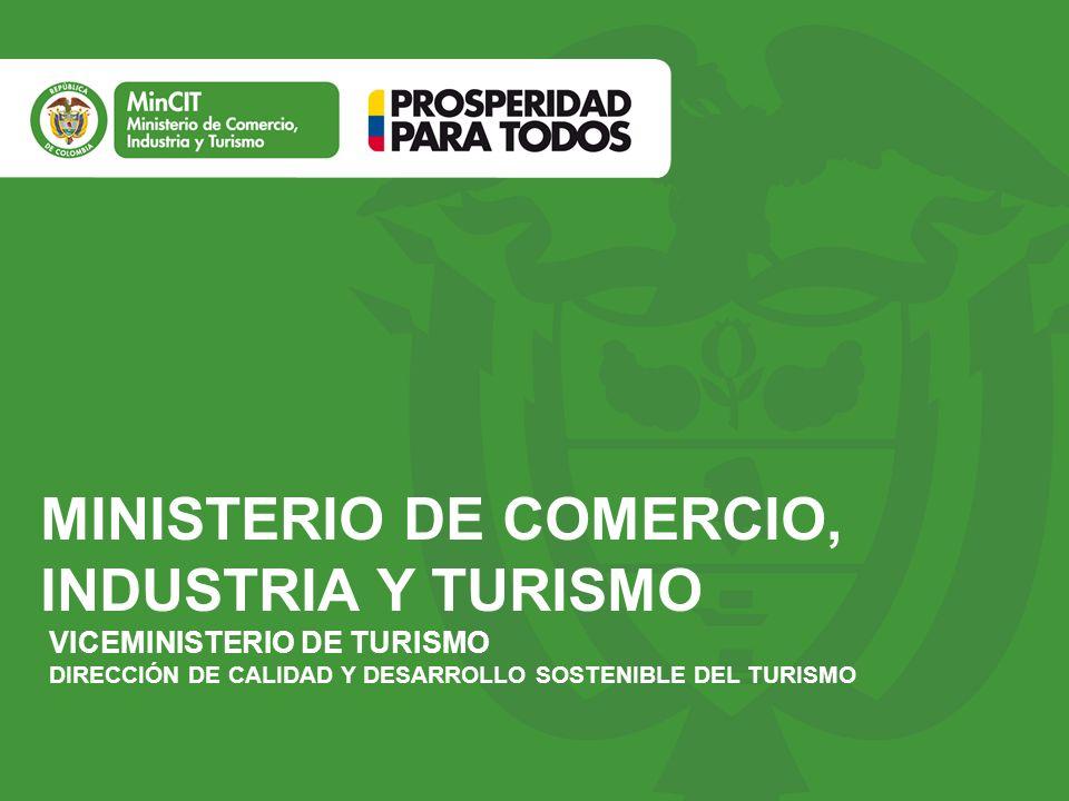 Ministerio de comercio industria y turismo ppt descargar for Ministerio del turismo