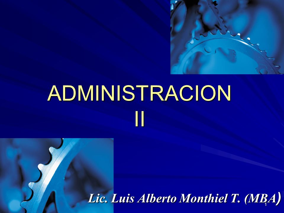 Lic. Luis Alberto Monthiel T. (MBA)