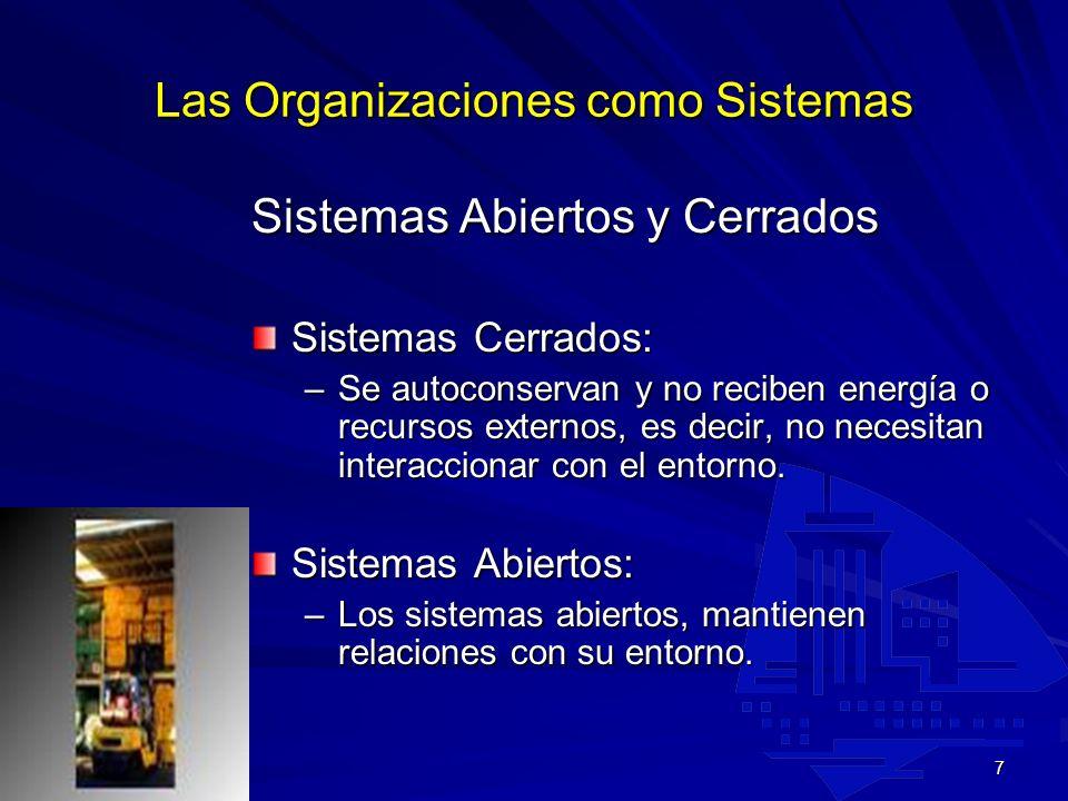 Las Organizaciones como Sistemas