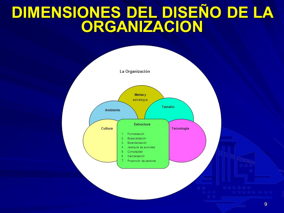 DIMENSIONES DEL DISEÑO DE LA ORGANIZACION