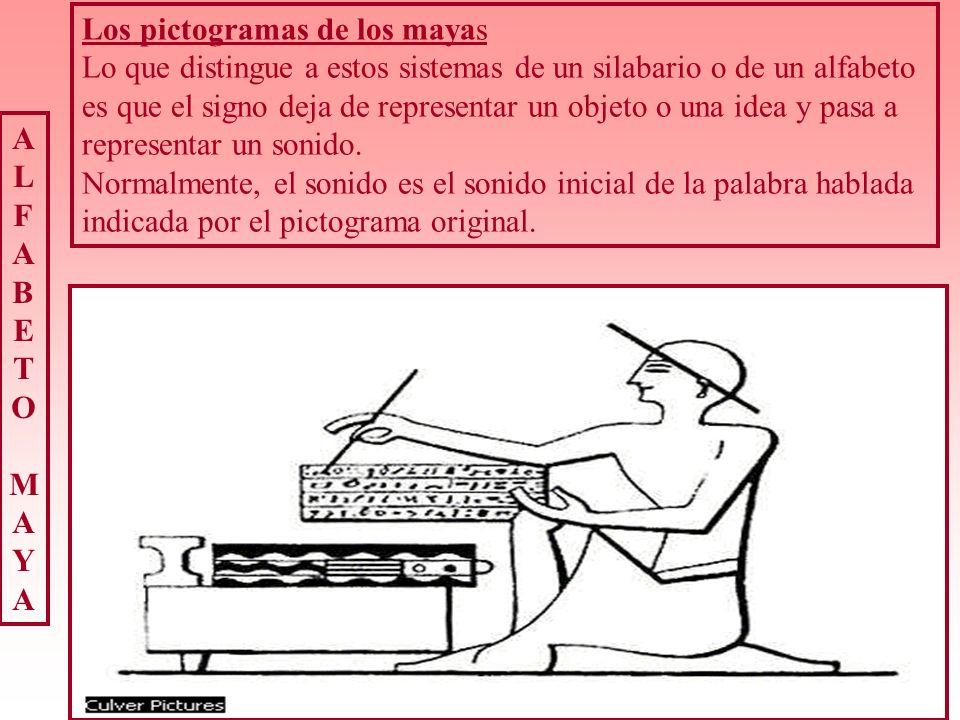 Los pictogramas de los mayas
