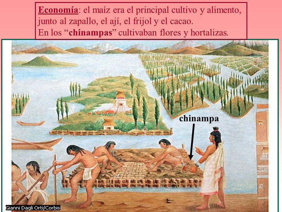 Economía: el maíz era el principal cultivo y alimento,