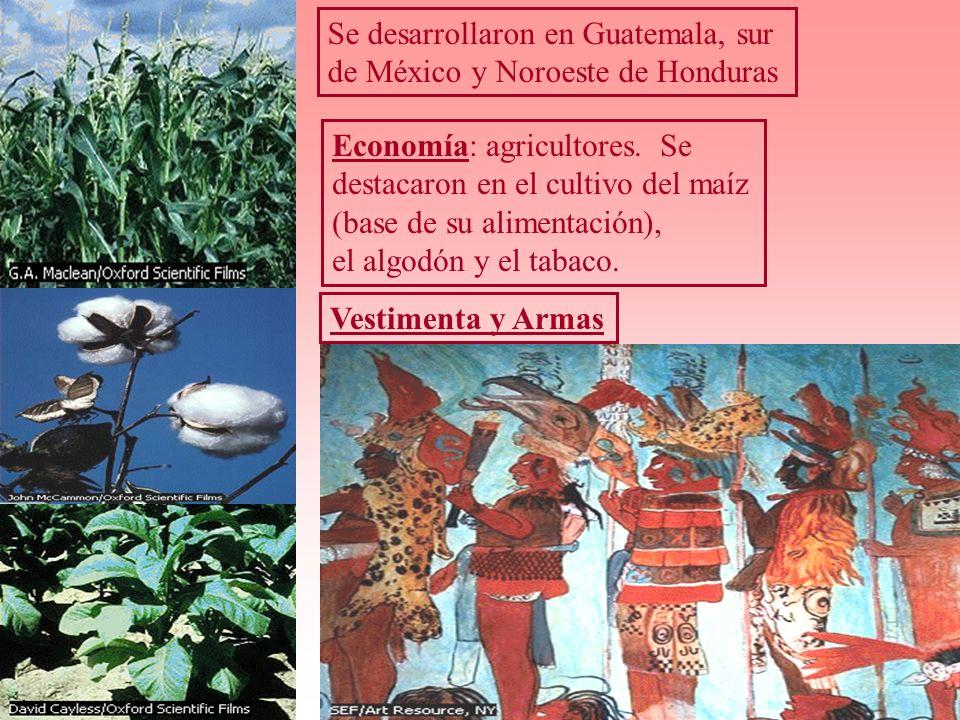 Se desarrollaron en Guatemala, sur