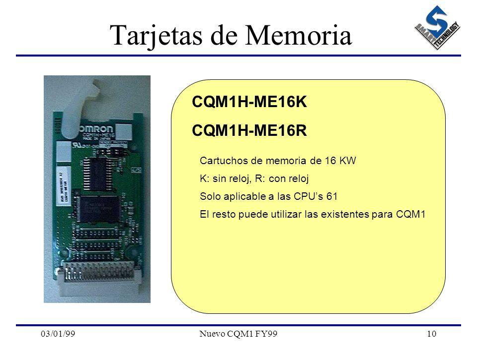 Tarjetas de Memoria CQM1H-ME16K CQM1H-ME16R
