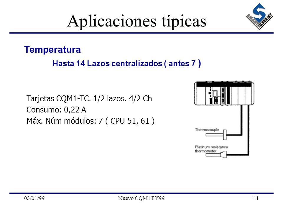Aplicaciones típicas Temperatura