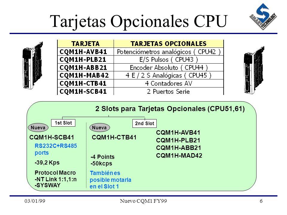 Tarjetas Opcionales CPU