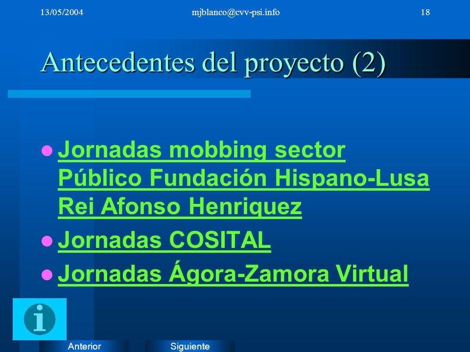 Antecedentes del proyecto (2)