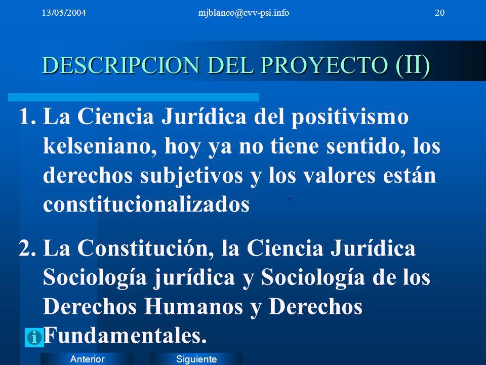 DESCRIPCION DEL PROYECTO (II)