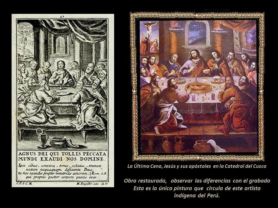 Obra restaurada, observar las diferencias con el grabado