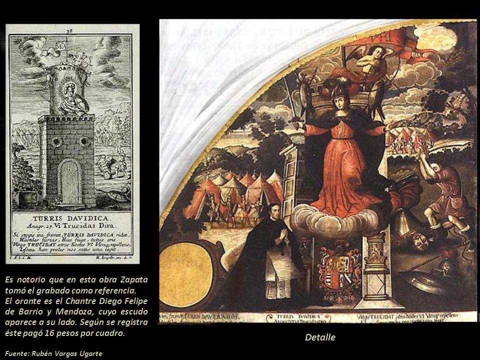Es notorio que en esta obra Zapata tomó el grabado como referencia.