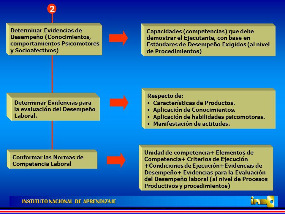 2 Determinar Evidencias de Desempeño (Conocimientos, comportamientos Psicomotores y Socioafectivos)