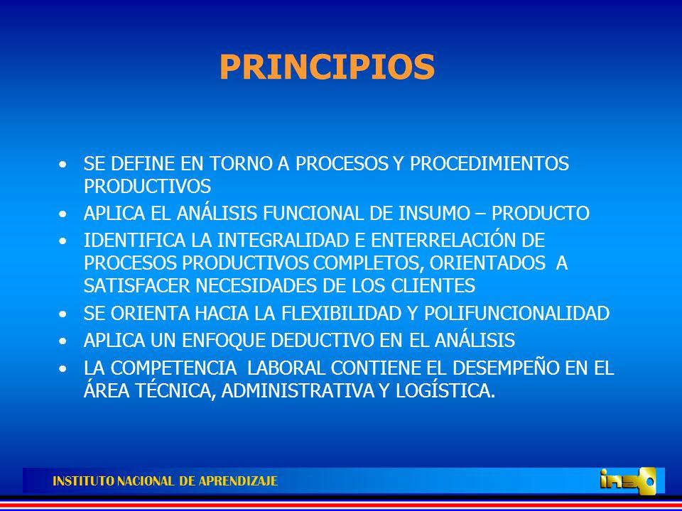 PRINCIPIOS SE DEFINE EN TORNO A PROCESOS Y PROCEDIMIENTOS PRODUCTIVOS